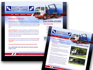Beechwood Skip Hire, York website