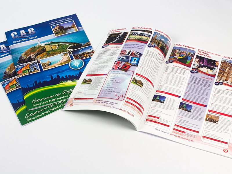 Cab Travel Brochure Design
