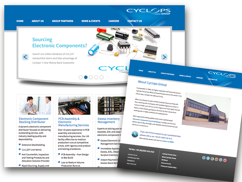 Cyclops Group website with Content management system