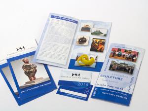 Friends of York Art Gallery leaflet and membership card design