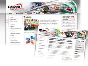 Global Supply Services bespoke website design