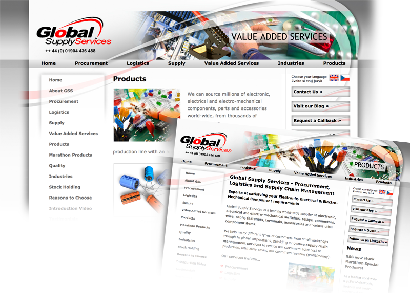 Global Supply Services bespoke website design