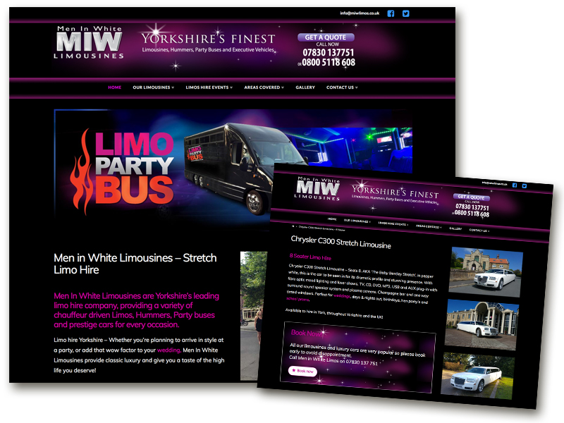 Men in White Limos website
