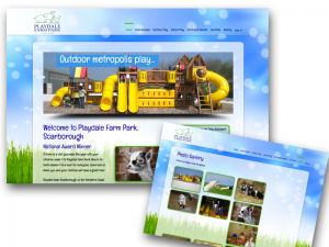 Playdale Farm Park website design