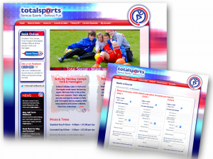 Total Sports Limited website design