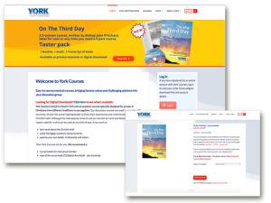 York Courses - Ecommerce website